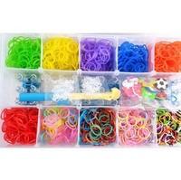 20sets new 2014 15 grids loom kit box Loom rubber bands Kit knitting machines Children fun loom