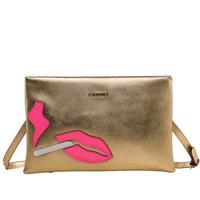 2015 luxury genuine leather bag designer brand women messenger bags crossbody female shoulder bag envelope lips clutch evening
