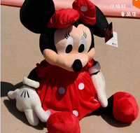 2pcs/lot 30cm Mini Lovely Mickey Mouse And Minnie Mouse Stuffed Animals Plush Toys For Children's Gift X1074