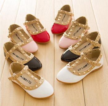 2014 новые девушки сандалии дети детей заклепки пу обувь 4 цветов свободного покроя сандалии для 2 - 10 лет девушки бесплатная доставка