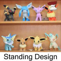 """Free shipping 8pcs/lot Pokemon Plush Toys 7"""" Standing Umbreon Eevee Espeon Jolteon Vaporeon Flareon Glaceon Leafeon Animals Doll"""