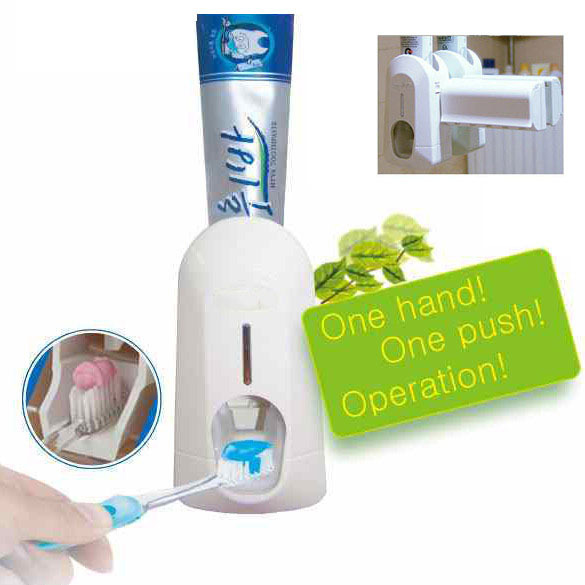 Automatic Toothpaste Dispenser and Brush Holder Touch I K5BO(China (Mainland))