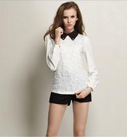 free shipping!New Hitz doll collar lace long-sleeved chiffon shirt Fashion Blouse