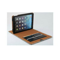 For Apple iPad mini Real Leather Wallet Card Holder Stand Case Cover