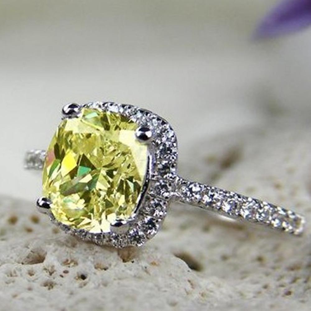 ingrosso fabbrica stile popolare 1 carato taglio cuscino vintage nscd diamante sintetico anniversario di matrimonio ad anello per le donne