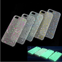 10pcs/lot Luminous Glow in The Dark Case Cover Skin For Apple iPhone 5G 5S freeshipping