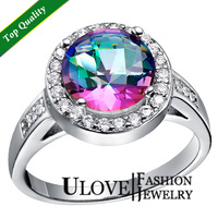 2014 Ulove Brand Accessories Designer Fashion Crystal 925 Silver Simulated Diamond Jewelry Engagement Party Gifts Ring for Women