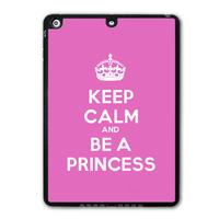 For iPad 5 Air/iPad Mini Keep Calm And Be A Princess Protective Black TPU Soft Shell Cover Case Free Shipping P69