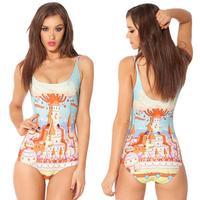 Adventure time candy kingdom swimsuit one piece bodysuit 036
