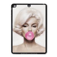 For iPad 5 Air/iPad Mini Marilyn Monroe Bubble Gum Protective Black TPU Soft Cover Case Free Shipping P40