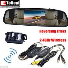4.3 inch Car Rear View Mirror Monitor Wireless Backup Camera Auto On Reversing LEDs(China (Mainland))
