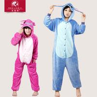 eshop animation blue Lilo Stitch Kigurumi Pyjamas adult animal onesies Unisex Hoodie cosplay halloween costumes