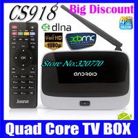 Bluetooth CS918(MK888/K-R42) Quad Core RK3188 Smart TV Box 2GB/8GB Google Android 4.2 Mini PC RJ45 XBMC With Remote Controller