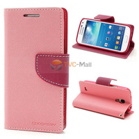 Mercury Fancy Diary Wallet Leather Stand Case for Samsung Galaxy S4 mini i9190 i9195 Freeshipping