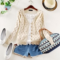 2014 fashion women coat small love heart sweater PLUS SIZE cardigan knitted coat#5798