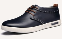 2014 new autumn men casual genuine leather shoes individuality fashion ballet flats sneakers flat boat shoes