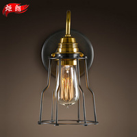 2014 Limited Rushed Freeshipping Knob Switch Loft Antique Art Wall, North Wall Lamp Bedroom Bedside Edison Iron Light