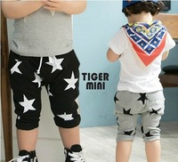 5 pcs/lot,chidlren harem pants,girl and boy Five-pointed star pants ,cotton,0.5kg ,PA003