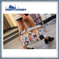 2014 denim bag women messenger bags pu handbags bolsa famous brand letter full print shoulder vintage bag clutch blue for lady