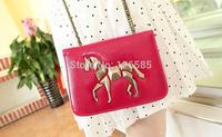 Free shipping PU leather cartoon small pony pattern single shoulder bag