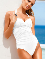 free shipping 2014 new hot sexy style women one piece swimwear  beach swimming clothes candy colors