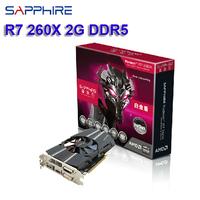 Big brand Sapphire AMD Radeon R7 260X video card best ATI graphics card 2G DDR5 128bit 1150MHz DX11 DVI+HDMI+DP free shipping