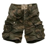 Free shipping 2014 hot sale camouflage men's overalls summer fashion short pants multi-pocket men shorts
