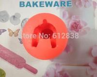 New !1pcs Lovely Bear Shape Silicone Cake Decorating Mold Clay Soap Mould Christmas Sugarcraft Fondant cake tools free shipping