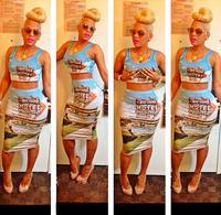 FreeShipping Sexy 2 Pieces Bandage Dress 2014 Summer  Cut Out dress Bodycon Mesh Party Dress Night Club Wear Fashion Women