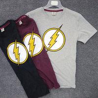 DC American Hero Series New 2014 summer  Dwyane genuine male washed Brushed cotton flocking round neck short sleeve T-shirt