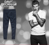 Top Brand 12 winter genuine male  Beckham pictures washed warm pants long underwear pants johns home
