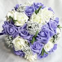 New 2014 wedding flowers bridal bouquets Artifical Pearl beaded Brooch Silk Rose Flower bride Bridal wedding bouquet