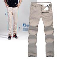 GK New 2014 Spring thin section Original Brand big men Slim Straight simple solid  linen slacks men linen pants