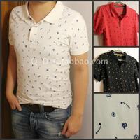 [6 ] Japanese fresh off embroidered polo shirt short-sleeve T -shirt Slim