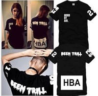 Hot Sale New Summer Autumn 2014 Hood by air hba x been trill kanye westcoast Short-sleeve tees Basic Undershirts Cotton T-shirts