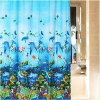 New Fashion 180x 180cm Home Bathroom Ocean Sea Life Waterproof Fabric Shower Curtain#55554