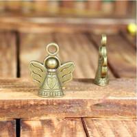 28 retro angel design diy necklace bracelet component  20pcs/lot 23*19MM pendants alloy  lucky Charms  Jewelry Findings