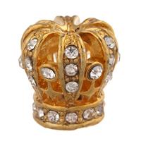 10pcs/lot Clear Crystal Rhinestone Crown Design Tassel Cap Embellishment Multifunction 16x17mm J1021