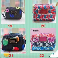 2014 New Hot sale brand women's mj nylon cosmetic bag zipper handbag day clutch fashion lady makeup bag purse 1pcs free shipping