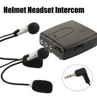 6X Free Shipping  Motorbike Motorcycle Helmet 2-way Intercom Interphone Headset