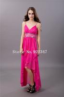 Free Shipping crystal fashion elegant evening gown 2014 chiffon long evening dresses formal dress