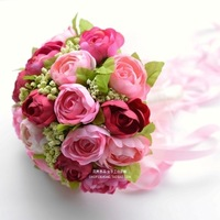 2014 promotion crystal wedding bouquets bride flower bouquet wedding bouquets fashion amellia korean holding women simulation