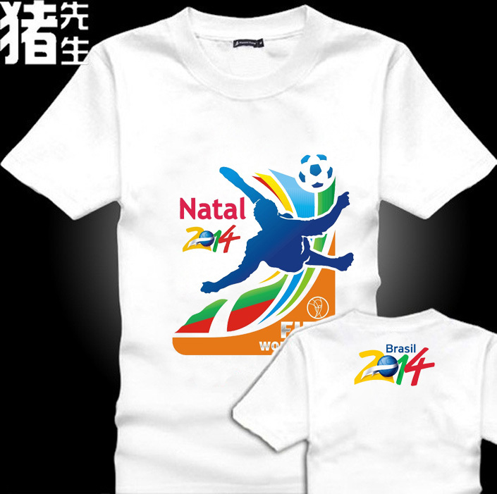 2015 Top Free Shipping New Men T Shirt Brands Summer Mens T-shirt World Cup Print Causal Tshirt Cotton Fashion Designer(China (Mainland))