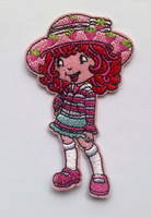 strawberry Shortcake iron-on patche game beautiful girl embroidered patch kids cloth patch accessory wholesale 100pcs/lot