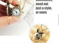 Wholesale cute bunny necklace watch pocket watch antique pocket watches explosion models wholesale spot