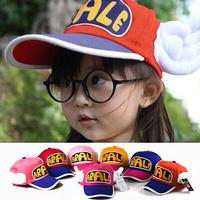 2014 Brand Children ARALE Letter Jeans Baseball Hats Baby Wing Denim Caps Snapback Hip-Hop Hat Boys&Girls Sun-Shading Cap XHM005