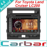 2014 Android 4.0 OS Car DVD GPS Player for Toyota Land Cruiser LC200 Dual Core 1GHZ CPU 512MB DDR3 3G Wifi 1080P Russian Menu