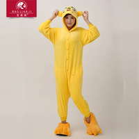 eshop Pluto Yellow Dog Kigurumi Pajamas adult animal onesies Unisex Cosplay Costume halloween costumes for women party Sleepwear