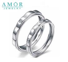 AMOR  FULL  OF  LOVE SERIES NATURAL DIAMOND 18K WHITE  GOLD LOVERS RING JBFZSJZ022