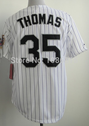 Cheap Sale,#35 Frank Thomas Men's White 2014 New baseball jersey,Embroidery/sewing logos, wholesale(China (Mainland))